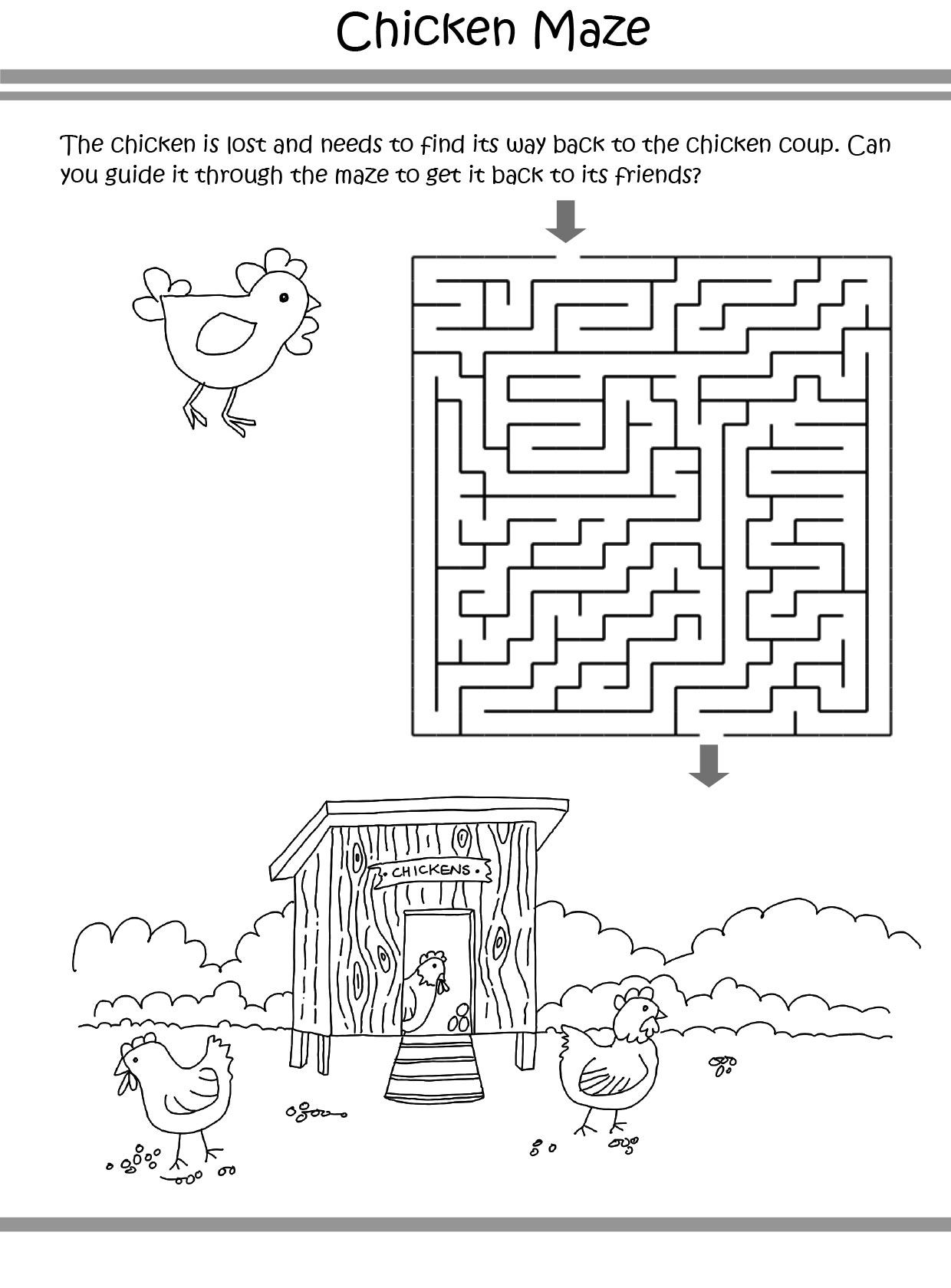 Chicken Puzzle coloring pages