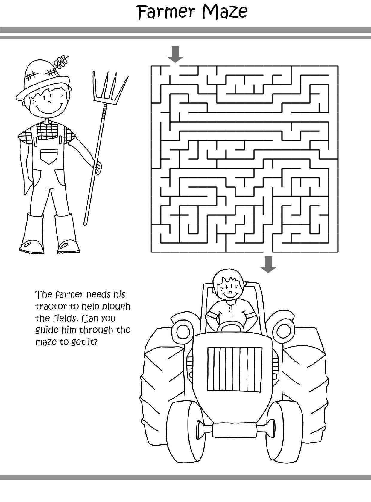 Farm Puzzle coloring pages