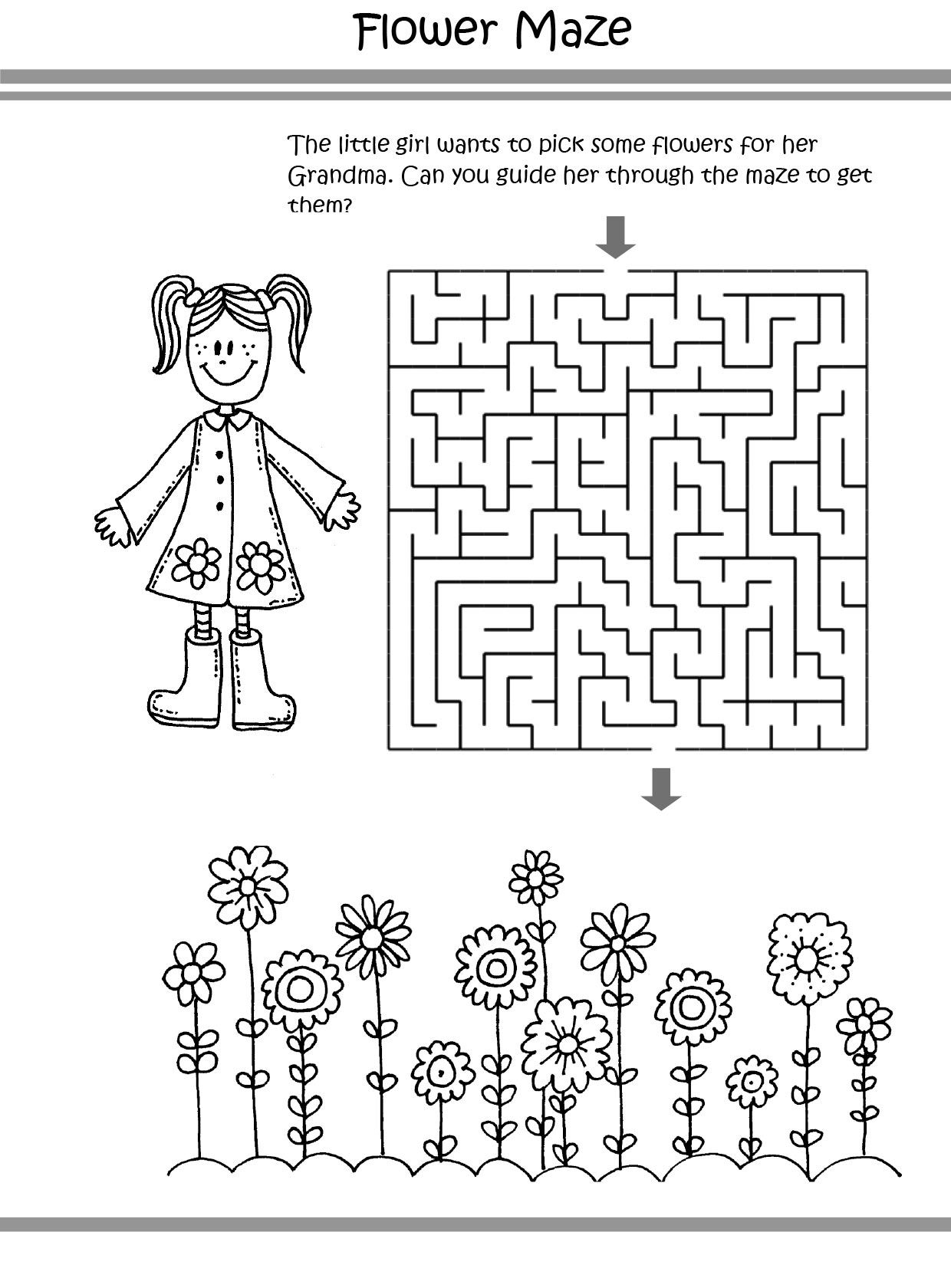 Flower Puzzle coloring pages