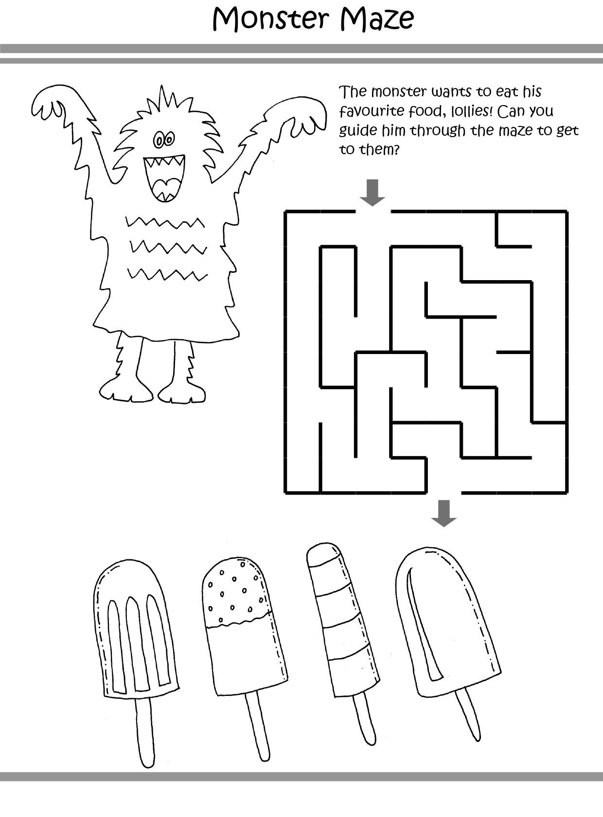 Monster Puzzle coloring pages