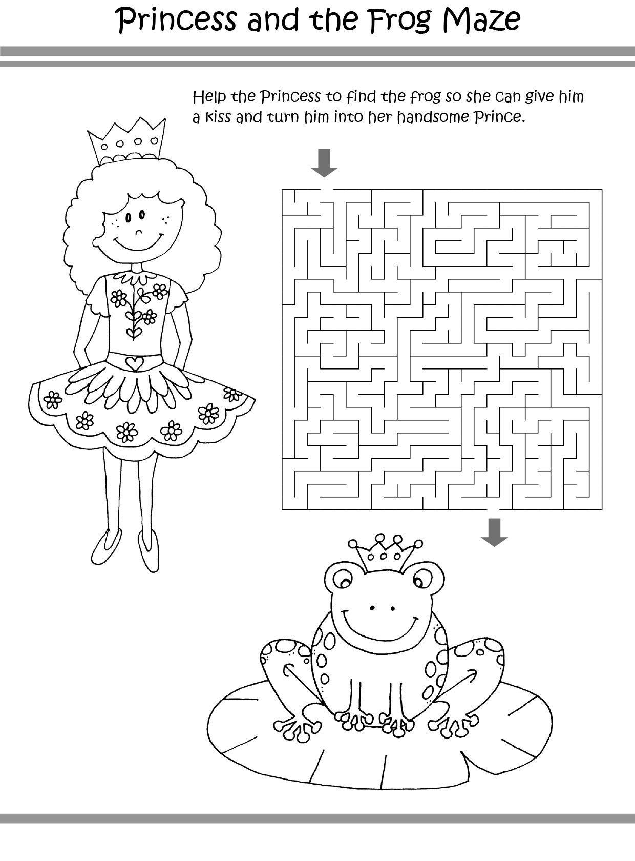Princess Puzzle coloring pages