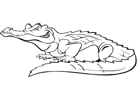 Happy Crocodile coloring pages