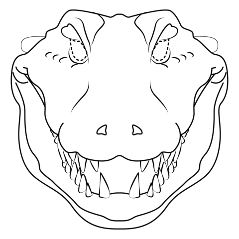 Crocodile Mask  coloring pages