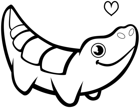 Funny Crocodile  coloring pages