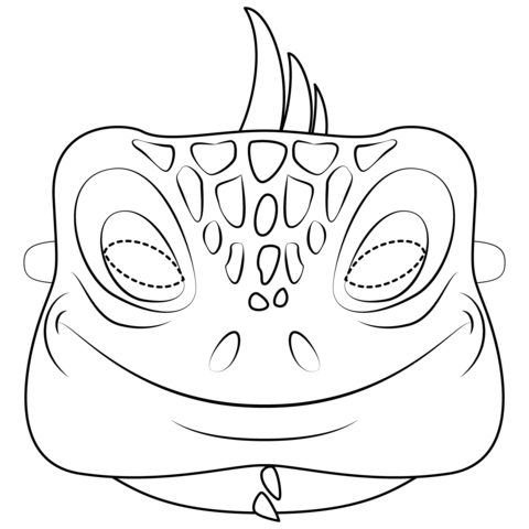 Iguana Mask  coloring pages