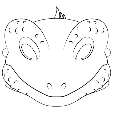 Lizard Mask  coloring pages