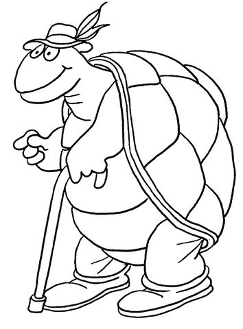 Old Turtle   coloring pages