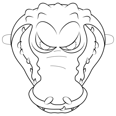 Alligators coloring pages