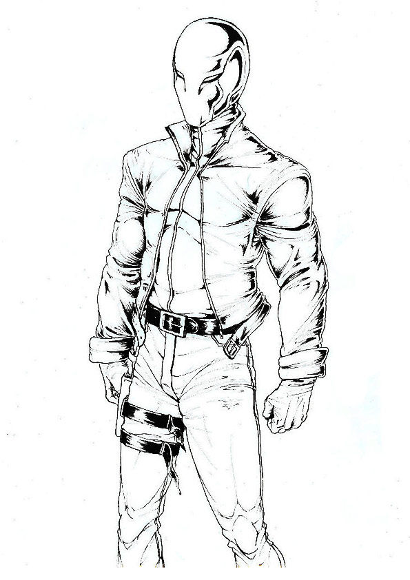 The Redhood Character coloring pages