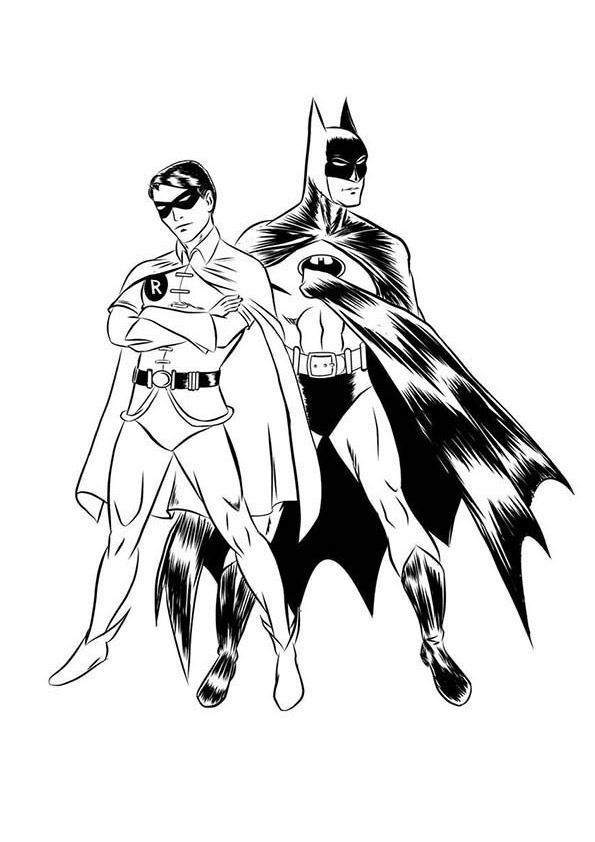 Batman & Robin coloring pages