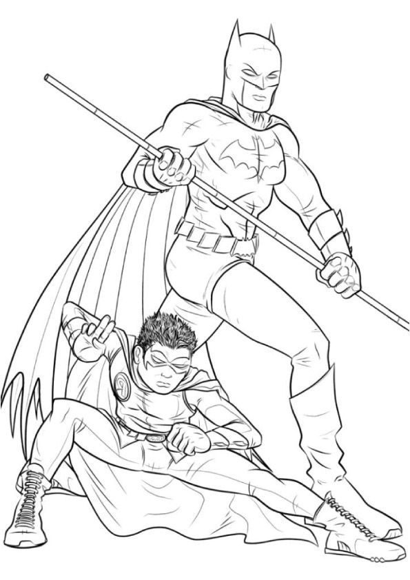 Batman & Robin 2 coloring pages