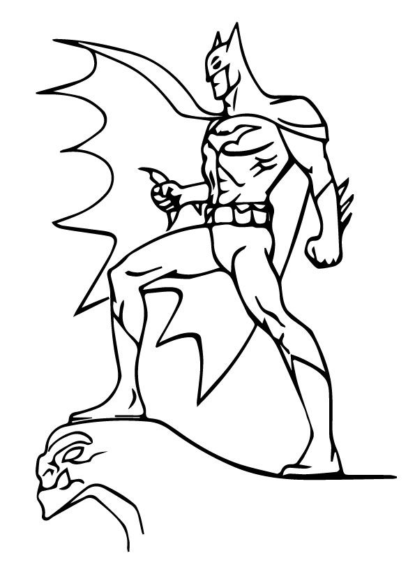Batman in Style coloring pages