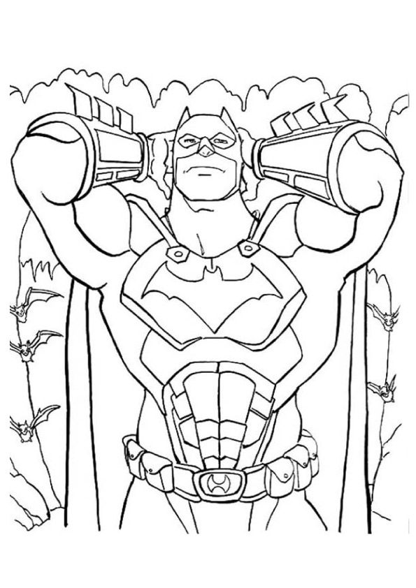 Fictional Hero Batman  coloring pages