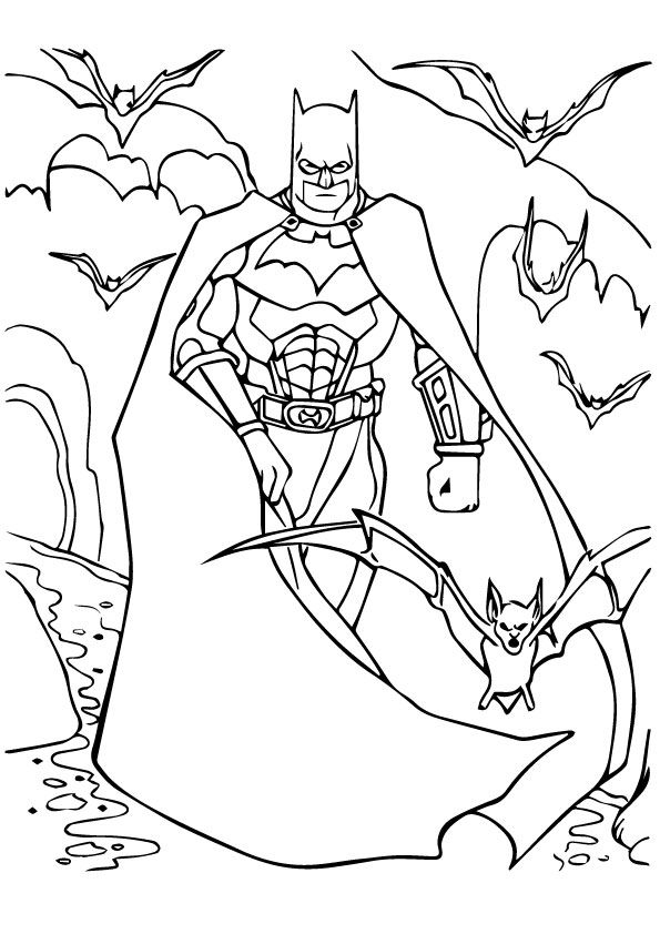 Batman & Batgroup coloring pages