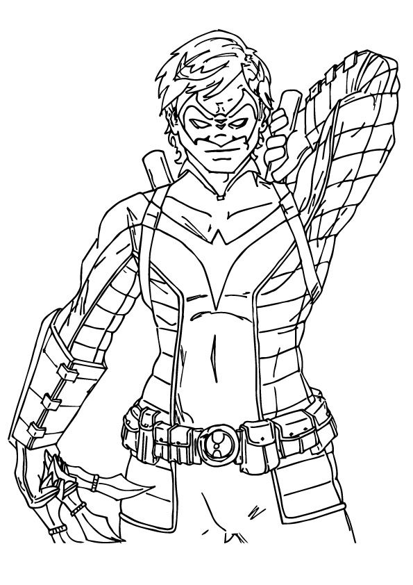 Nightwing Batman coloring pages