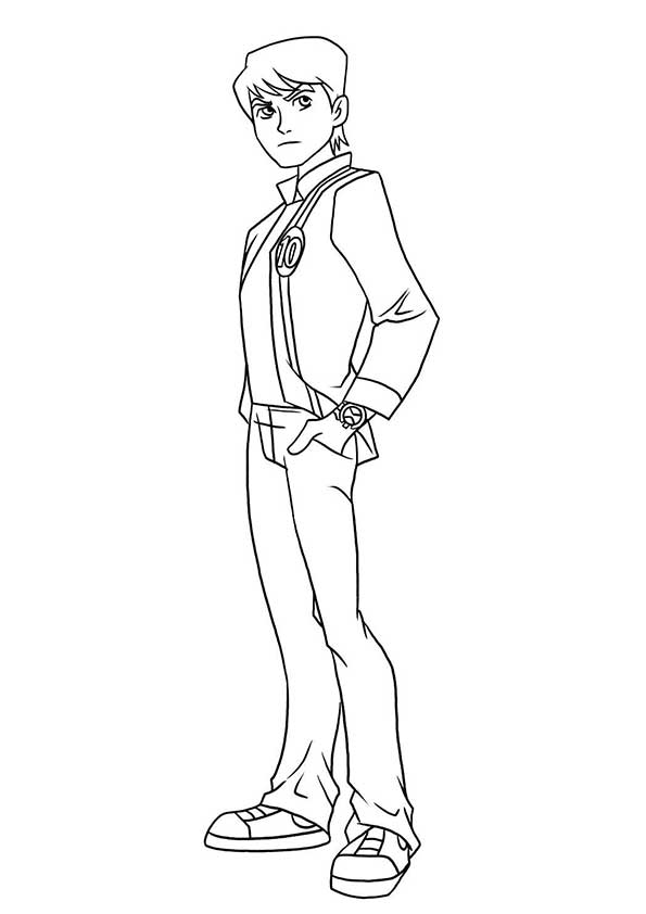 Casual Ben coloring pages