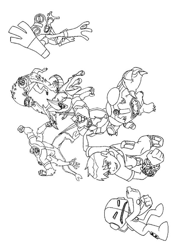 Ben in Rescue coloring pages