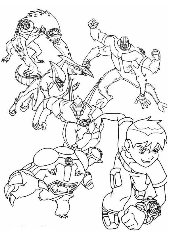 The Ben Adventurer coloring pages