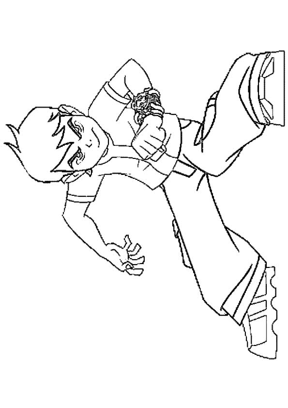 Serious Ben coloring pages