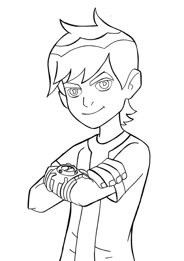 Smiling Ben coloring pages