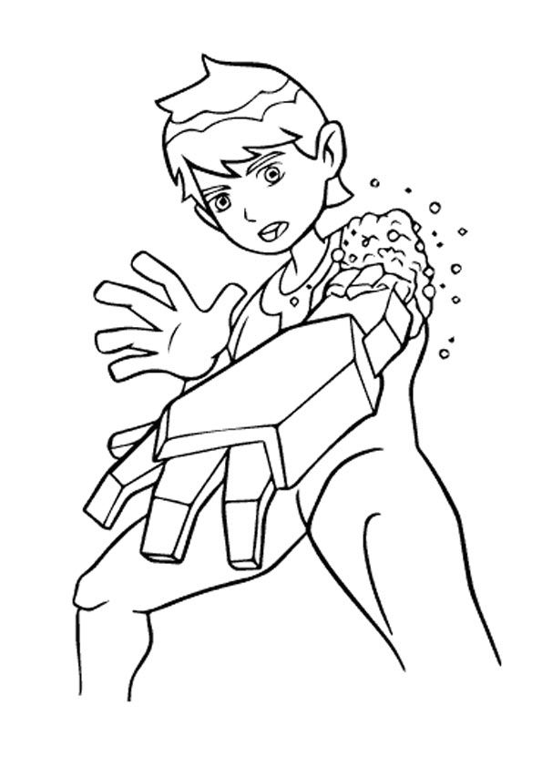 Ben 10 in Trouble coloring pages