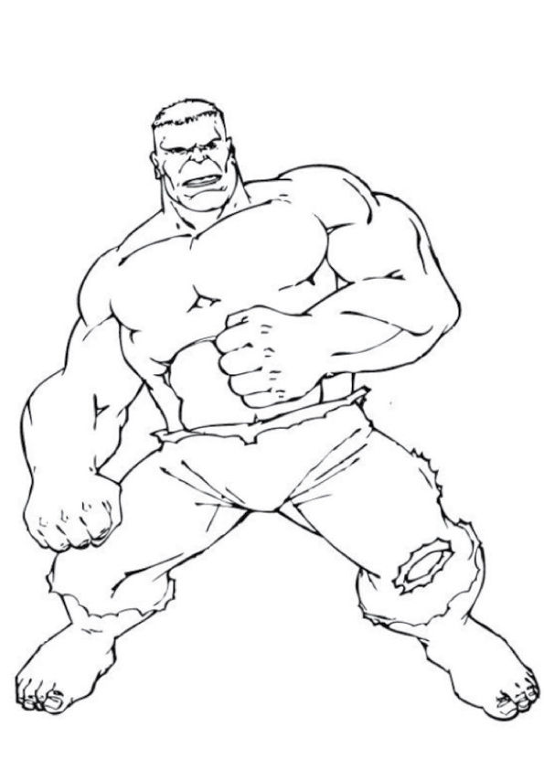 Fightready Hulk coloring pages