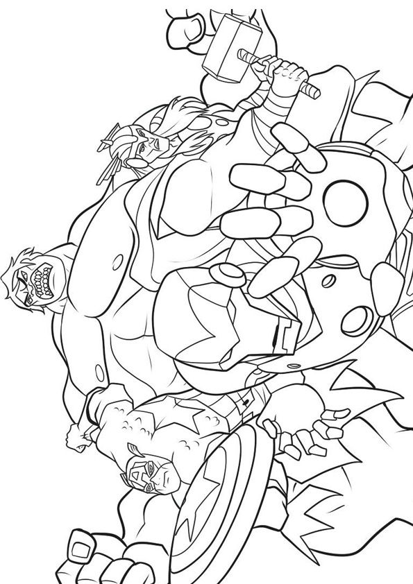 Avengers Team coloring pages