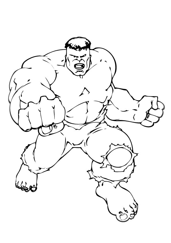 Hulk Showing Muscles coloring pages