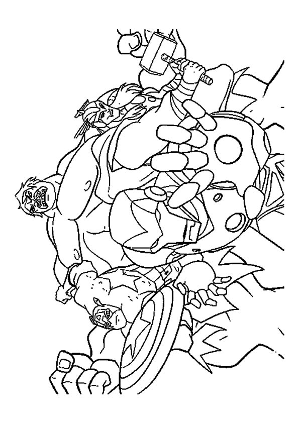 Empowering Hulk coloring pages