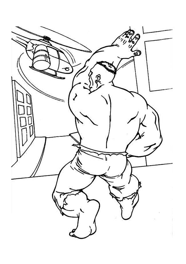 Hulk After Helicopter coloring pages