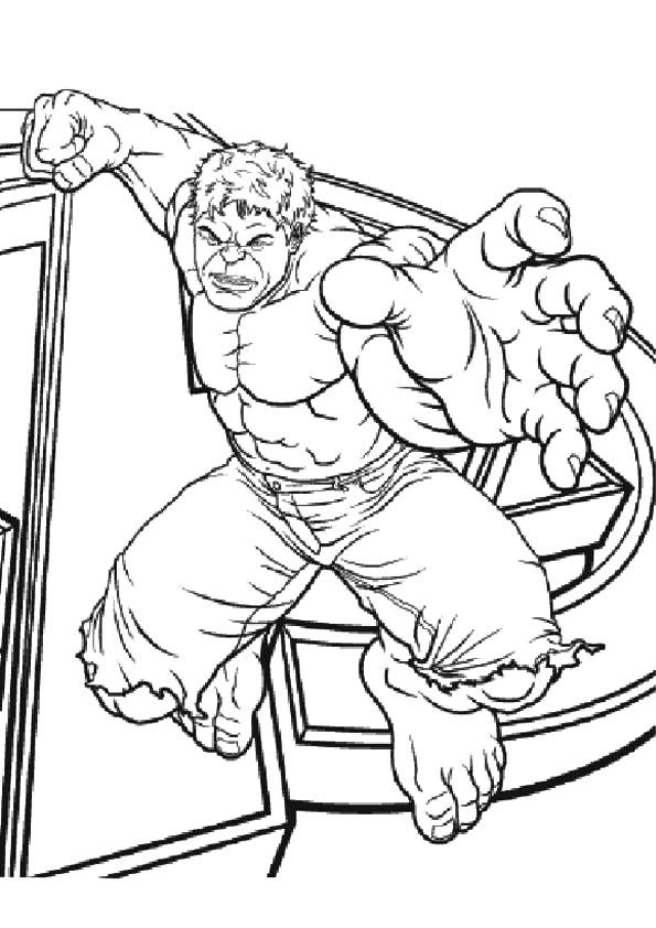 Catching Hulk coloring pages