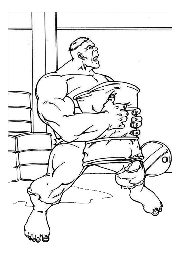 Hulk with Cushion coloring pages