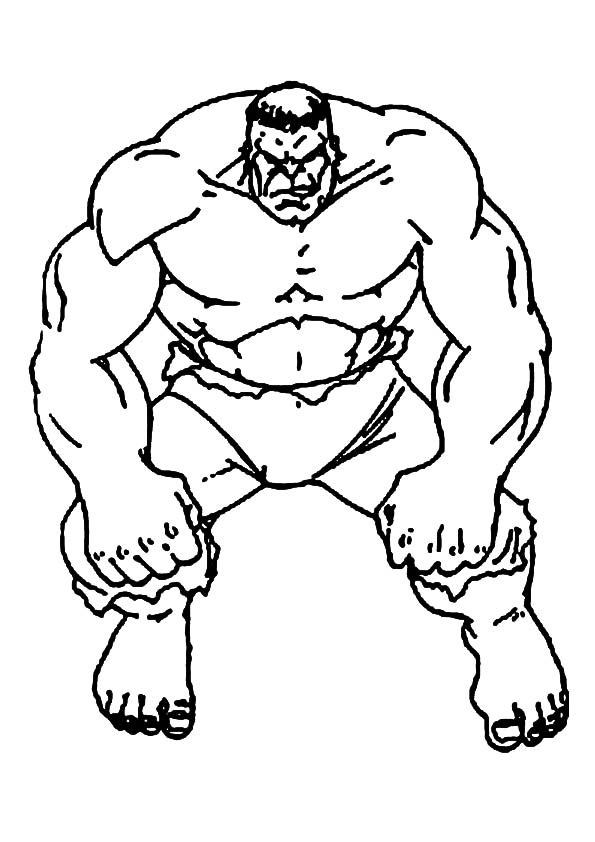 Avenger Hulk coloring pages