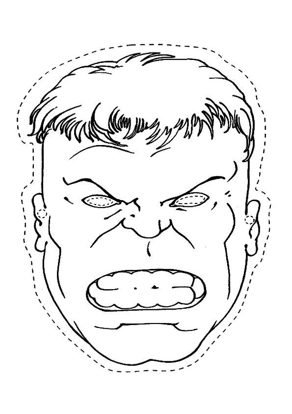 Hulk Maskcut coloring pages
