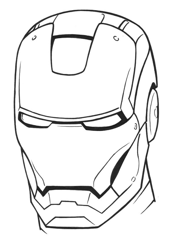 image relating to Iron Man Mask Printable called Totally free Printable Iron Guy Helmet Coloring Visualize