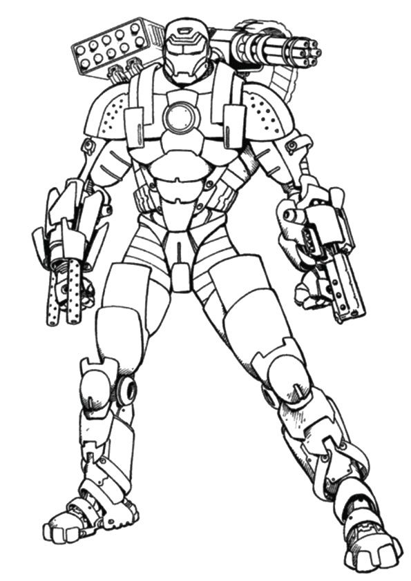 Monger Iron Man coloring pages