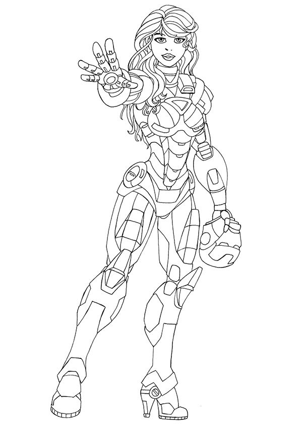 Pepper Potts Iron Man coloring pages