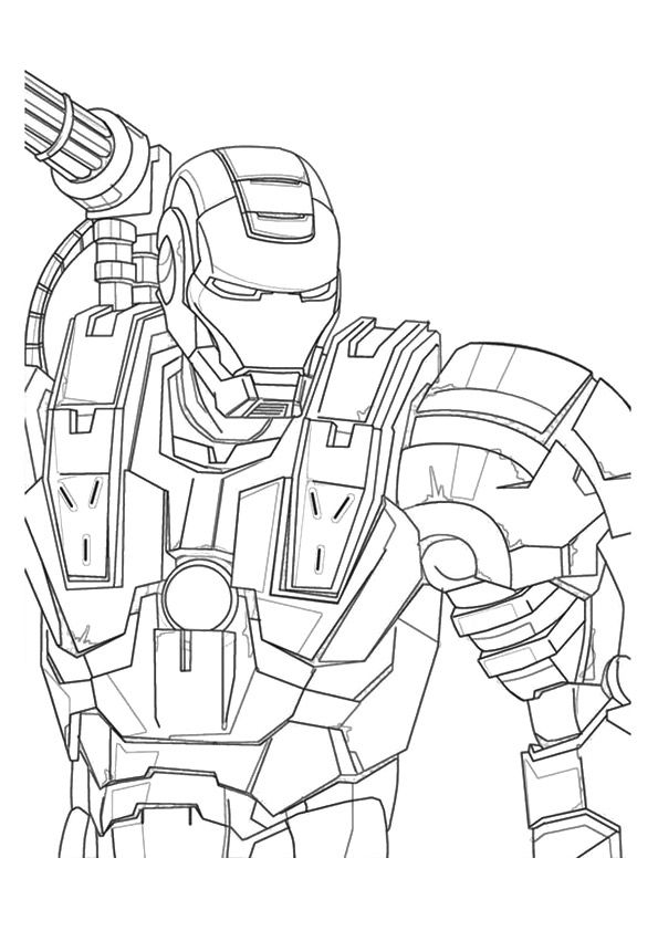 War Machine Iron Man coloring pages