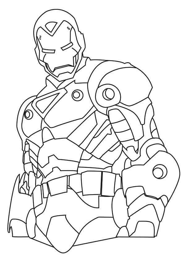 Strong Iron Man coloring pages