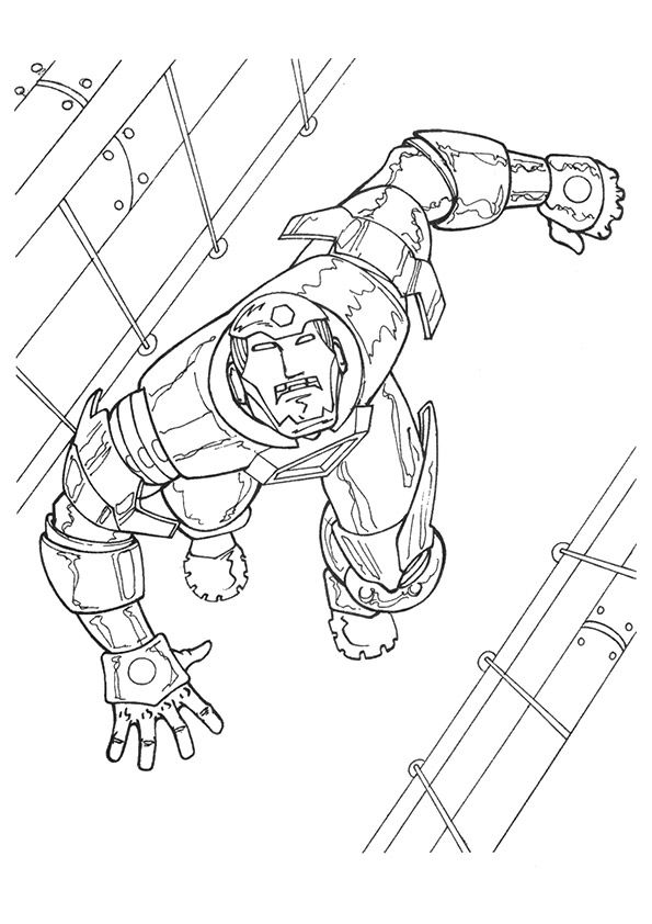 Climbing Iron Man coloring pages