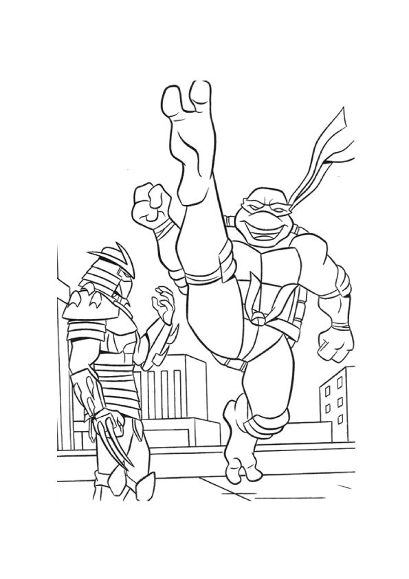 Ninja-turtles coloring pages