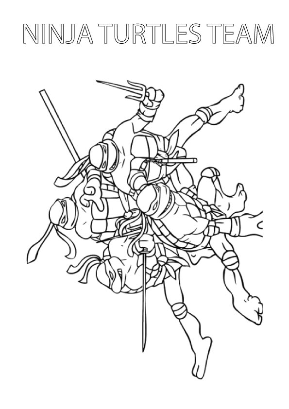 Ninja Turtles Team coloring pages