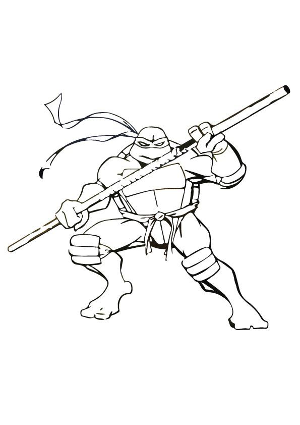 TMNT Donatello coloring pages