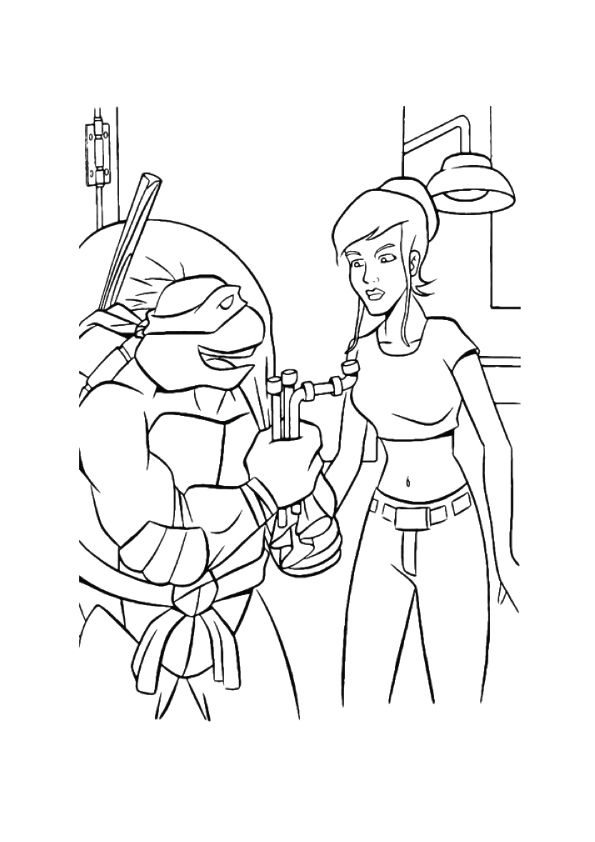April O Neil coloring pages