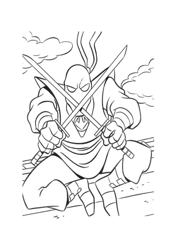 Dont Mess With Ninja coloring pages