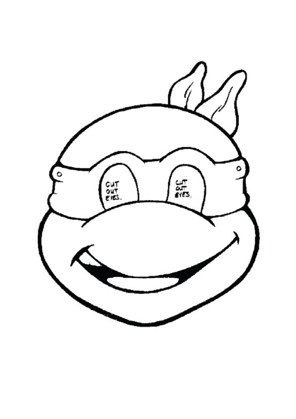 Ninja Turtle Mask coloring pages