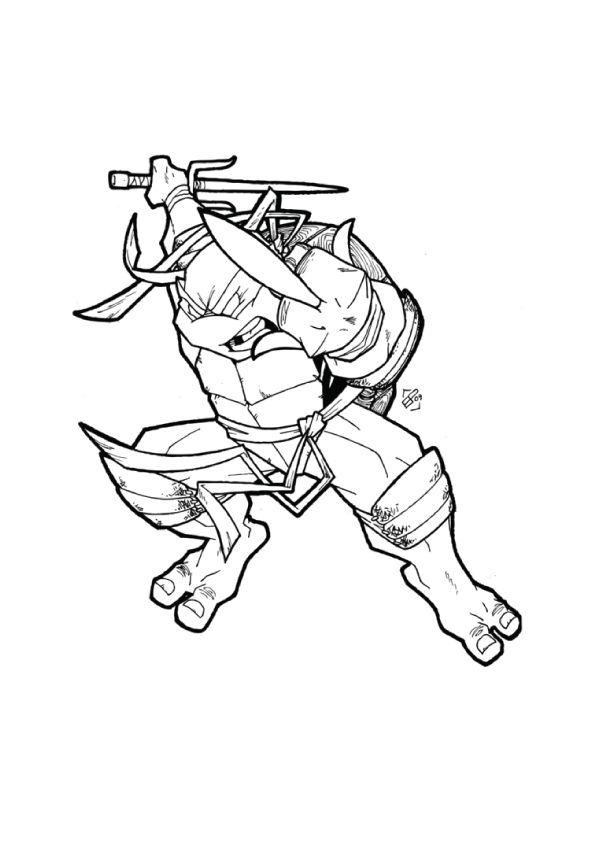 Rapheal Ninja Turtles coloring pages