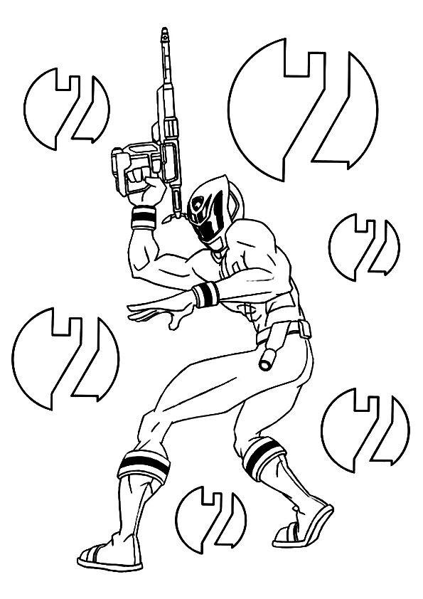 Ninja Avec Son laser coloring pages