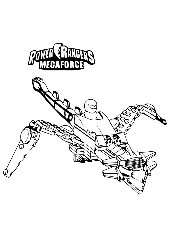 Power Rangers Megaforce Fly coloring pages