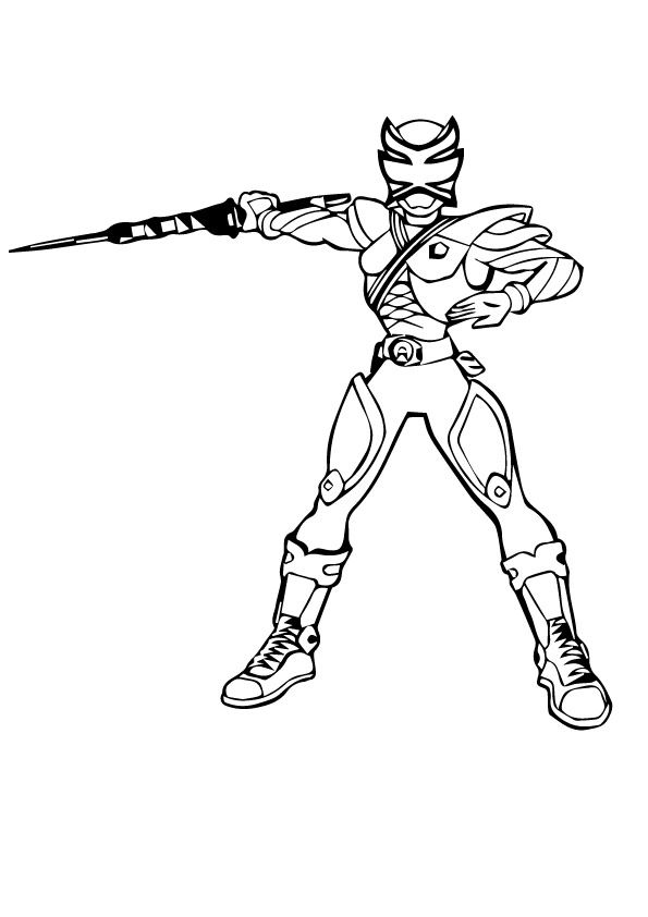 Power Rangers Megaforce Nife coloring pages